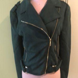 Romeo & Juliet Couture Jackets & Coats - Faux soft suede biker jacket